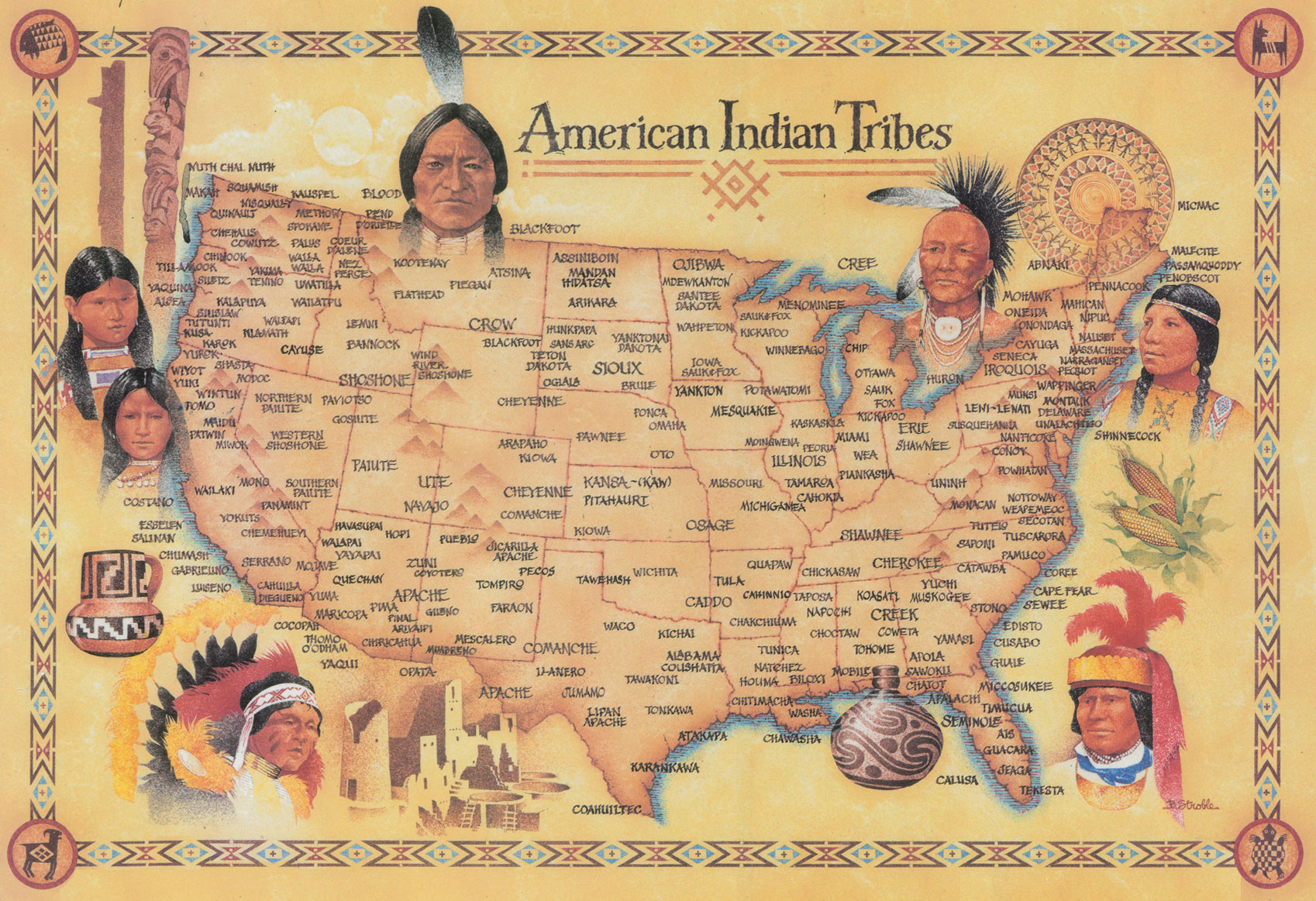 There were hundreds of Native American cultures, from coast to coast ...