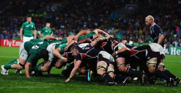 USA-Rugby-and-the-Ireland-Rugby-Team-scrum-in-the-Rugby-World-Cup-2011