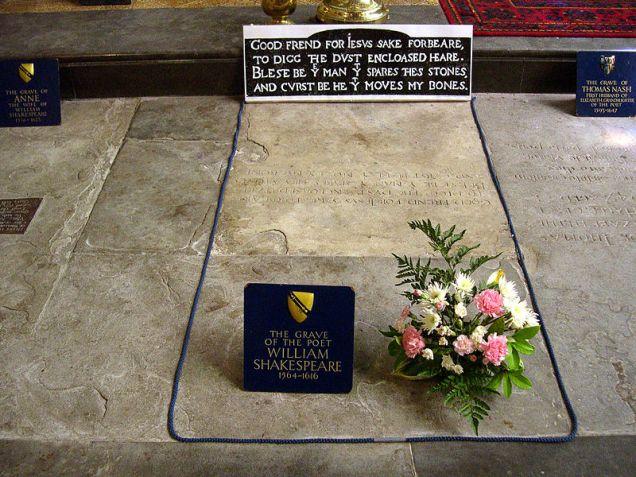800px-Shakespeare_grave_-Stratford-upon-Avon_-3June2007